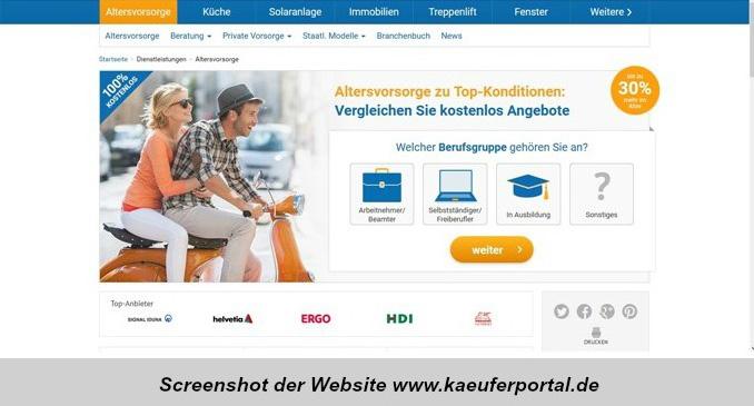 Vermittlungsportal mit Altersvorsorge-Produkten - bocquell-news.de